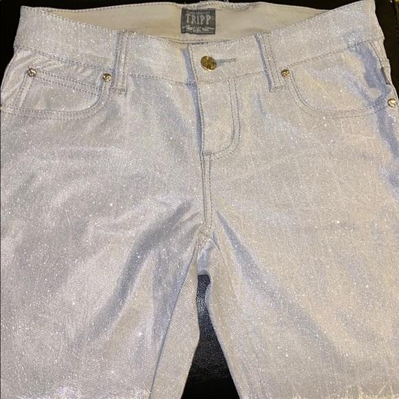 Tripp nyc Pants - Tripp glittery gray/metallic pants